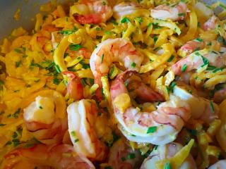 Shrimp & zucchini noodles IMG_1182