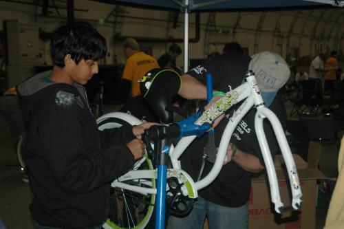 Img 0083: Turning Wheels for Kids' Big Bike Build