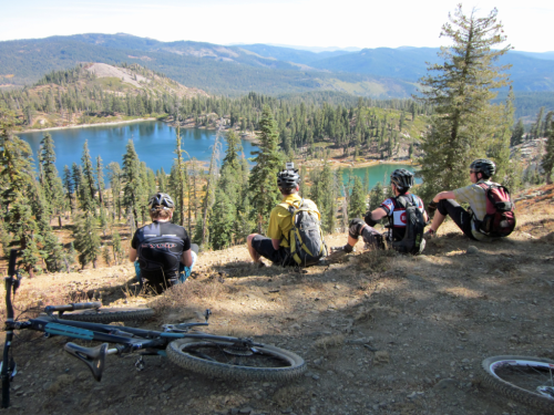 Photo 1379 a rest after a climb in Plumas National Park during Oakland Feather River Camp's Bike Camp courtesy of Camps in Common